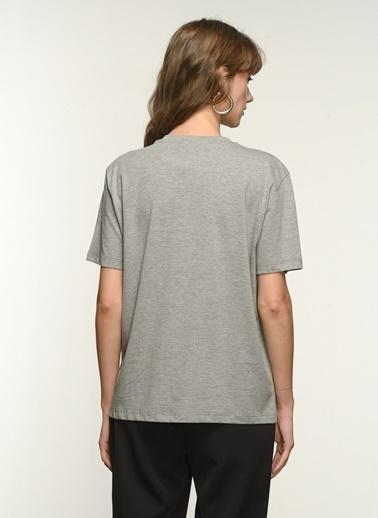 NGSTYLE Ngkss21Ts0043 Cep Payet Detaylı Tshirt Antrasit